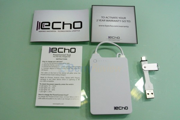 Echo PowerConnect 4000mAh Accompanying Accessories